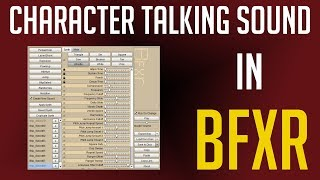 How to Create Character Talking Blip Sound Effects in BFXR for Classic Style Games