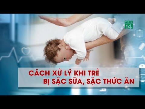 Cách xử lý khi trẻ bị sặc sữa, sặc thức ăn  VTC14
