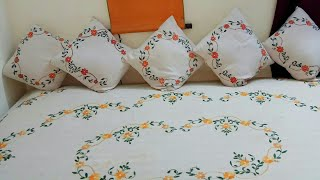 Bedsheet Painting Ideas|Very Easy Freehand Fabric Painting|Diwali Home Decor Ideas