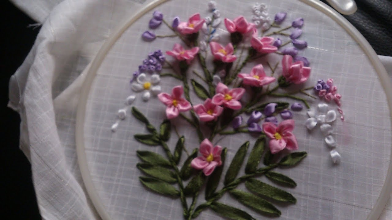 Lilac ribbon embroidery: features, step-by-step description, master class and recommendations 59