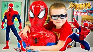 Giant Surprise Toys SPIDERMAN PINATA Filled with Surprise Eggs Blind Bags Super Hero Toys