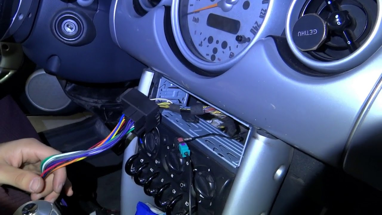 Schema Cablaggio Mini Cooper : Adattatore cavo autoradio mini one youtube