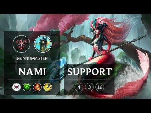 Nami Support vs Pyke - KR Grandmaster Patch 9.3