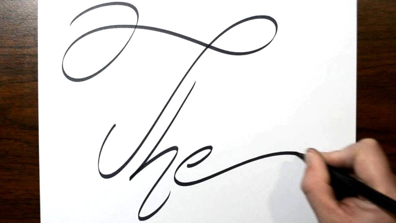 Writing The in Cool Fancy Thin Cursive Lettering