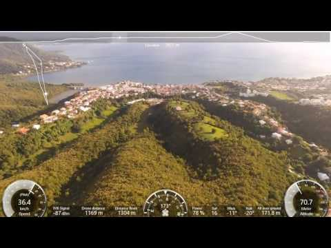 Vol drone sainte Luce Martinique perte de connection a 1,4km