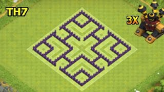 clash of clans town hall 7 base layout/best defense/farming/trophy