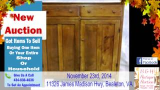 November 23rd 2014 Bealton Va Auction