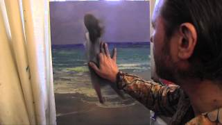 Научиться рисовать фигуру, девушку, море, курсы живописи маслом, Сахаров