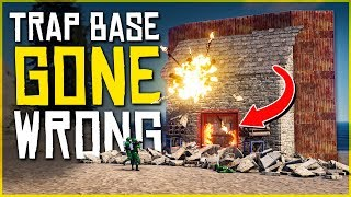 The OVERPOWERED TRAP BASE *GONE WRONG* - Rust Trap Base Gameplay