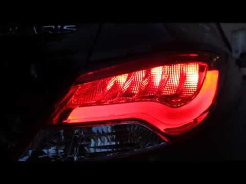 Задние тюнинг фонари Хендай Солярис 2011-, светодиодные, прозрачные