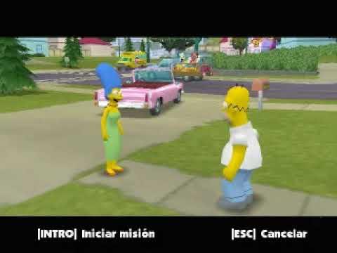 Simpsons Hit & Run *ESPAÑOL* Level 1 - Homer - Parte 1