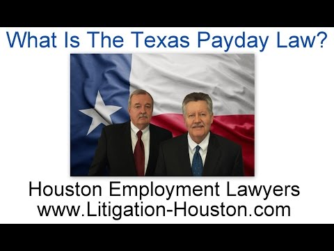 Texas Payday Law - Make Your Employer Pay Unpaid Wages