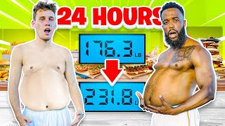 Who Can Gain the Most Weight in 24 Hours - 2HYPE Calories Challenge