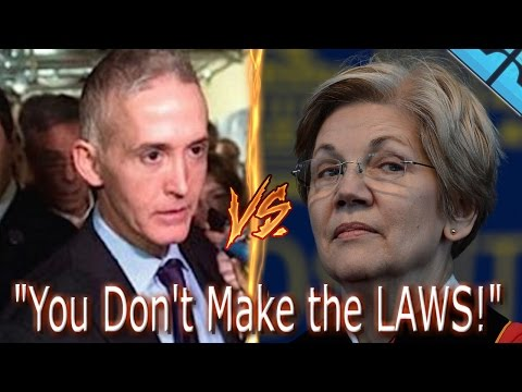 Trey Gowdy TRIGGERS Elizabeth Warren! You Do Not Make the LAW! TREY GOWDY Smashes