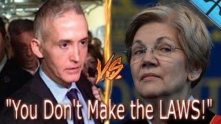 Trey Gowdy TRIGGERS Elizabeth Warren! You Do Not Make the LAW! TREY GOWDY Smashes