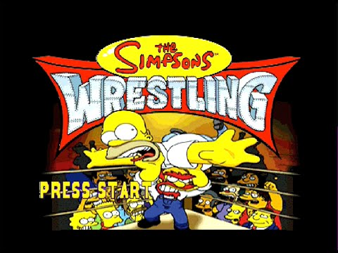 The Simpsons Wrestling - Sony Playstation (PS1) Gameplay - 2001