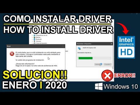 Como Instalar NUEVO Driver De INTEL HD GRAPHICS | *SOLUCION!! ENERO 2020*