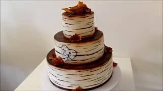 Идеи тортов | Идеи тортов на свадьбу в стиле осеннего листопада