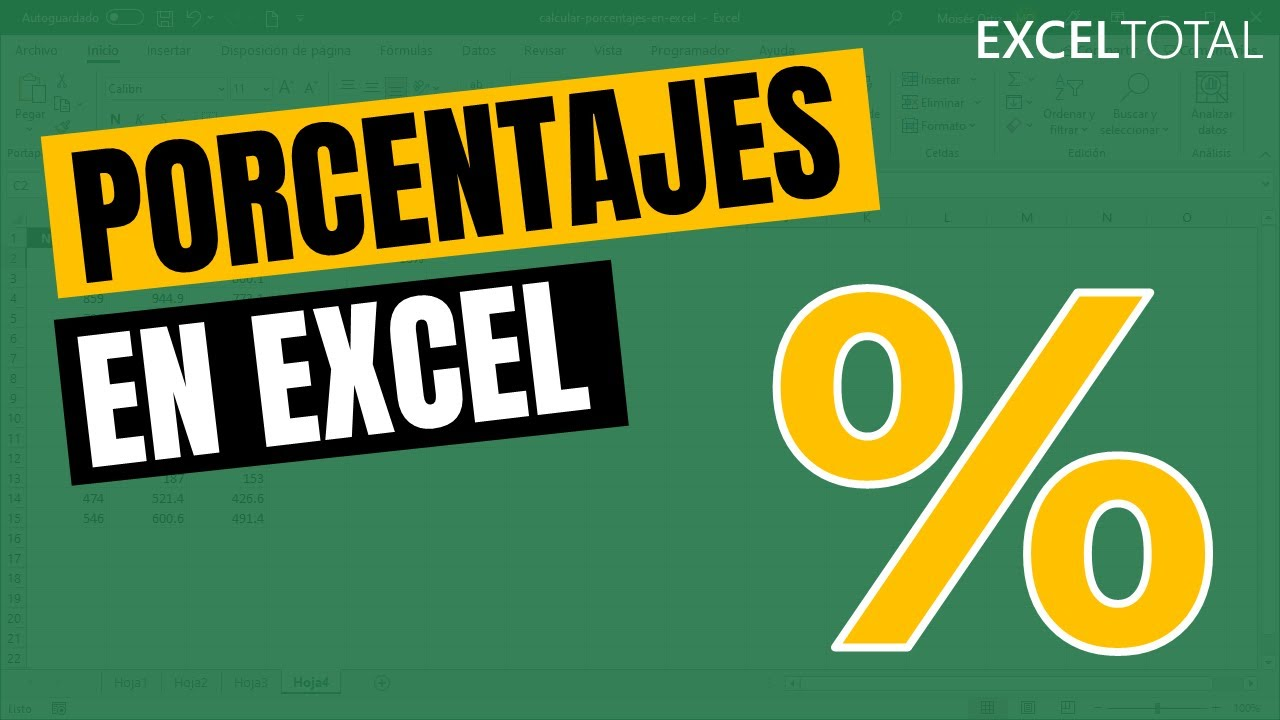 Cómo Calcular Porcentajes En Excel Youtube