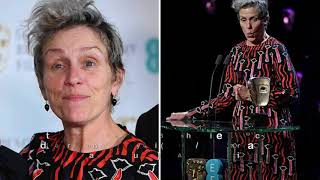 Frances McDormand explains why she didn't wear black as she announces solidarity with