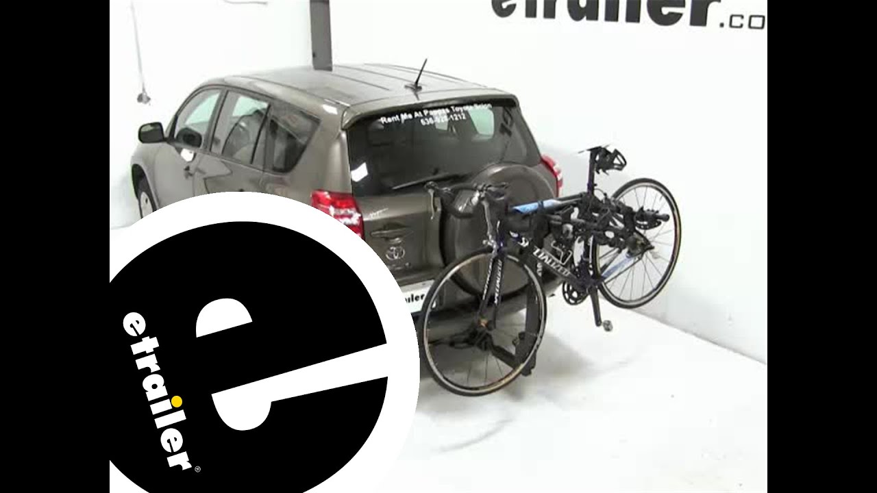 Review Of The Thule Hitching Post Pro Hitch Bike Rack On A 2017 Toyota Rav4 Etrailer Com