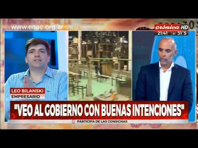 """""""La destrucción de pymes en la era Macri"""" Leo Bilanski en Cronica TV"""