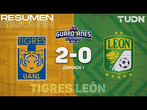 Resumen y goles | Tigres 2-0 León | Torneo Guard1anes 2021 Liga MX - J1 | TUDN