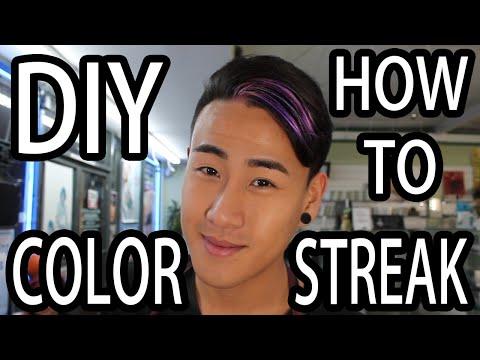 DIY Hair Color Streak