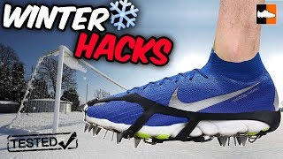 Winter Football Hacks Tested! Genius Tips & Tricks ❄️🌨️ For Cold Weather