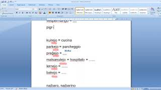 Corso di esperanto per italofoni. Lezione 4 (parte 1; purtroppo la 2 è andata persa). 16/04/2020.