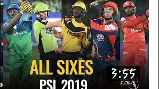 ALL SIXES - Pakistan Super League 2019 and psl song