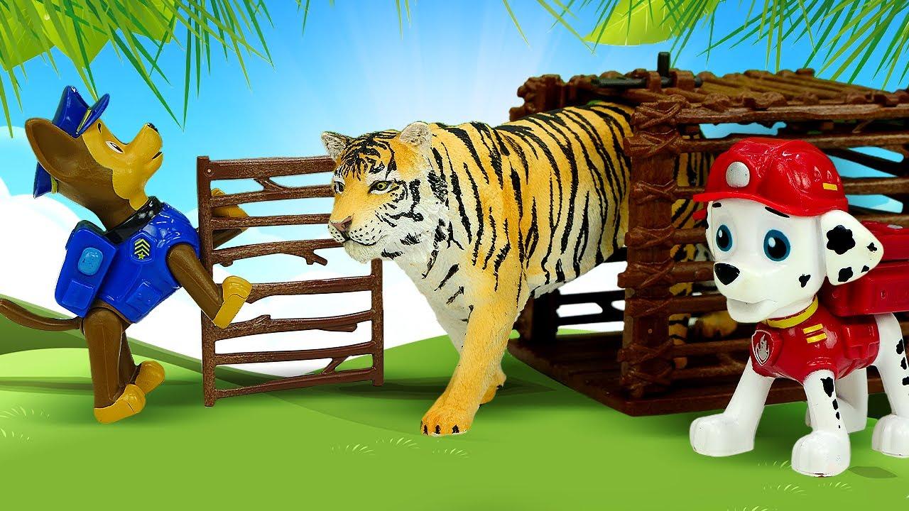 Paw Patrol devolve os animais ao zoológico! História infantil com super heróis  em português