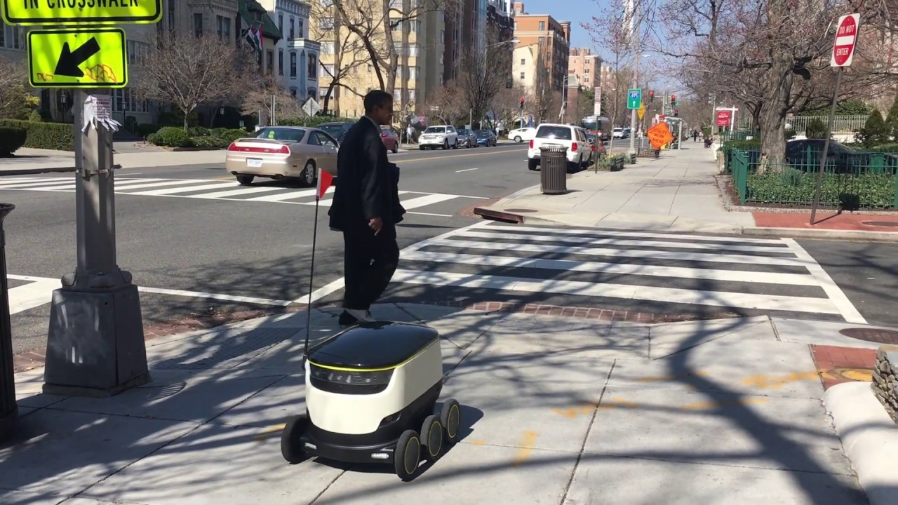 Delivery Robots Take Dc Youtube