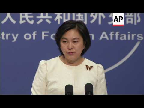 China spokesman on cyber attacks, Taiwan