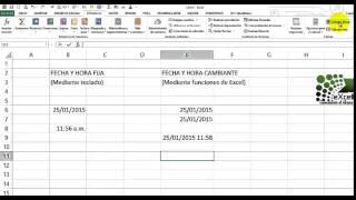 Insertando la fecha y la hora en MS Excel