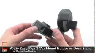 iottie easy flex 2 car mount holder or desk stand