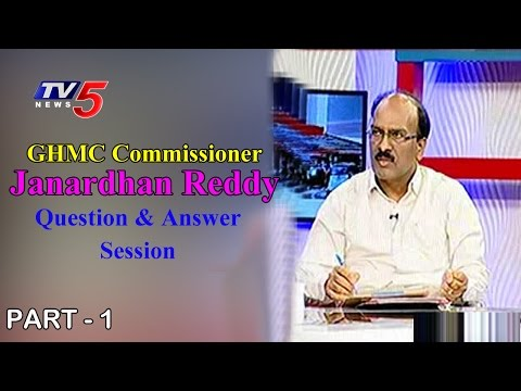 GHMC Commissioner Janardhan Reddy  Question & Answer  Session With Public   PART - 1   TV5 News