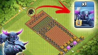 PEKKA VS FULL TRAP BASE - CLASH OF CLANS | YOU WON'T BELIEVE WHAT HAPPENED ! | COC TRAP BASE !