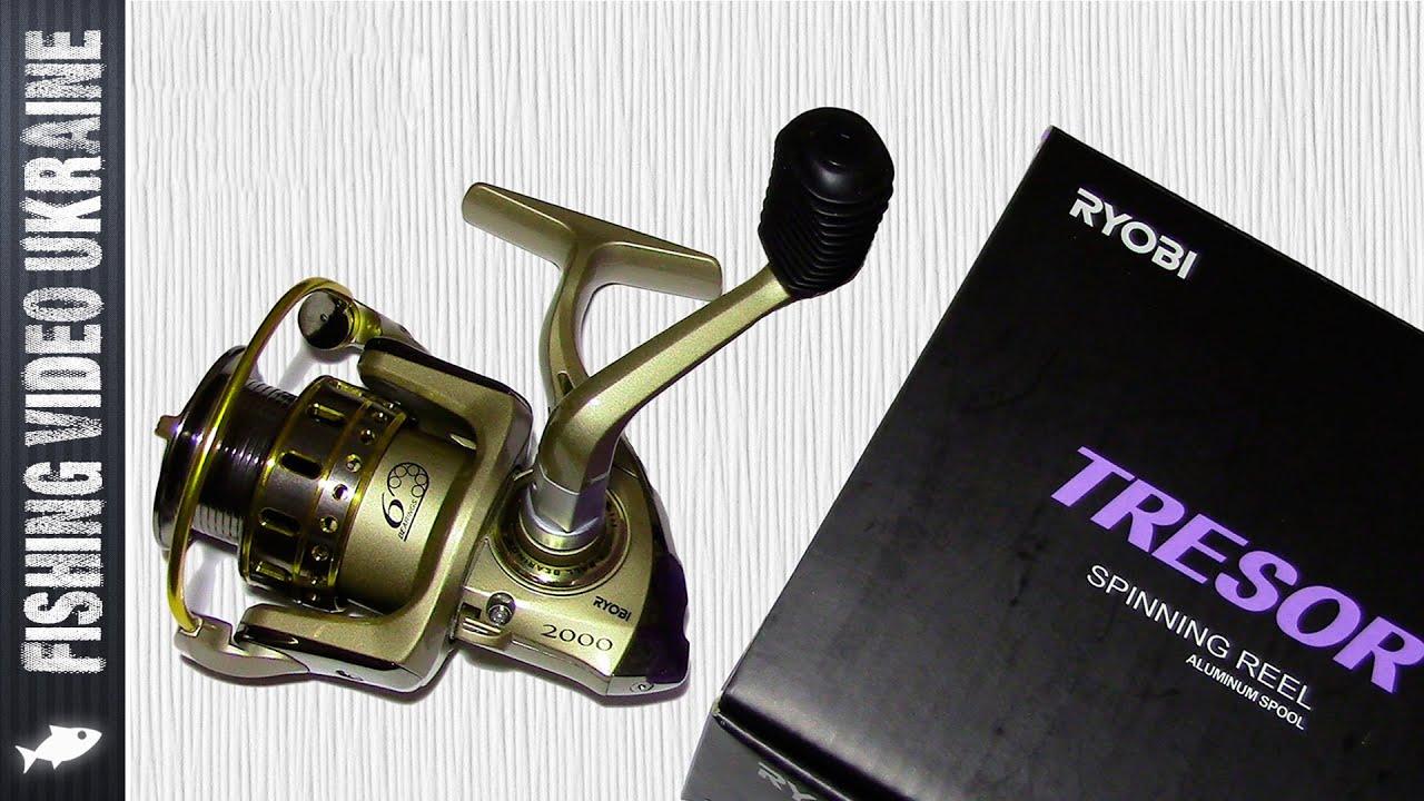 Катушка RYOBI TRESOR 2000 Видео обзор (Unboxing) HD