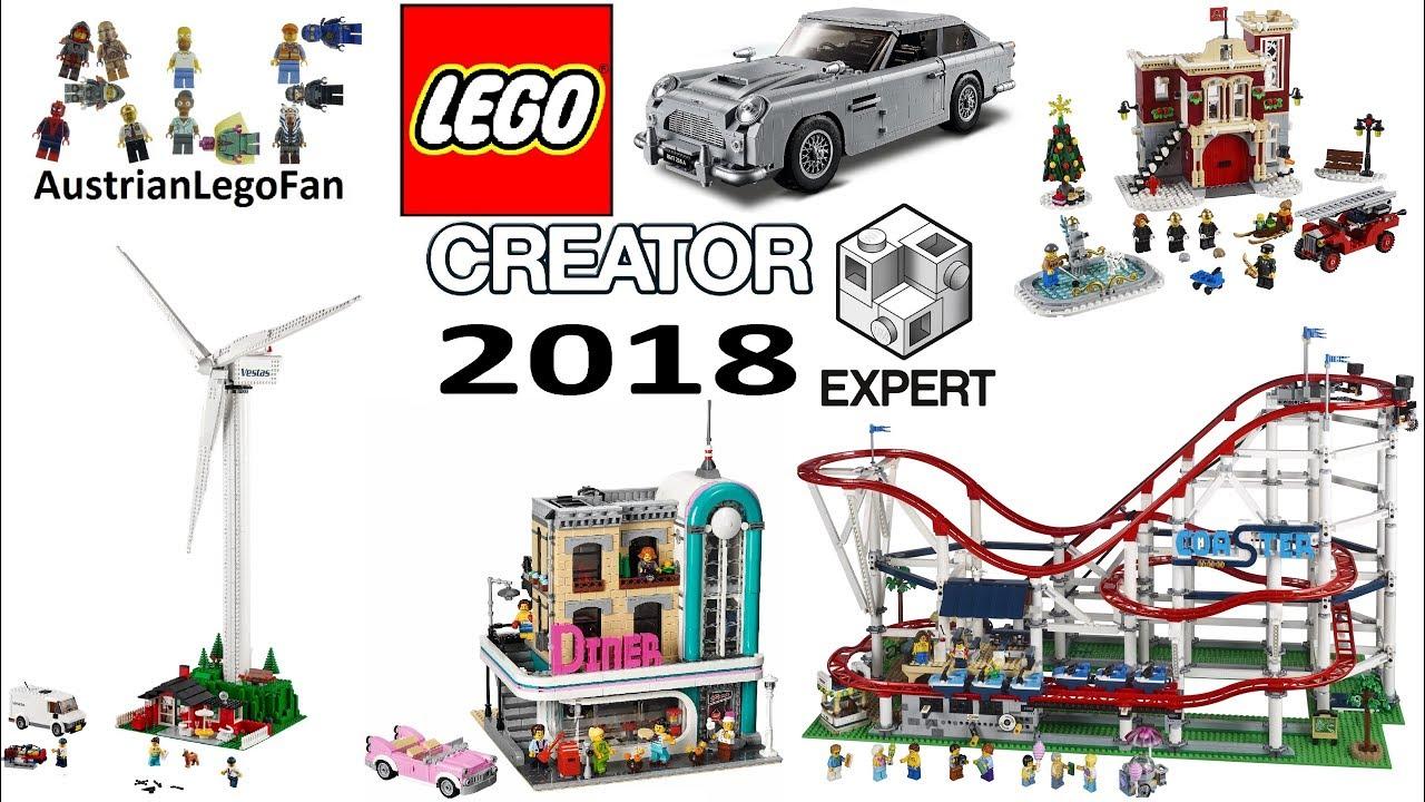 all lego creator expert 2018 sets compilation youtube. Black Bedroom Furniture Sets. Home Design Ideas