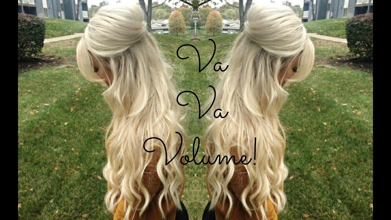 Voluminous Half Up Half Down Hairstyle  TheBlondeBeautyy  YouTube