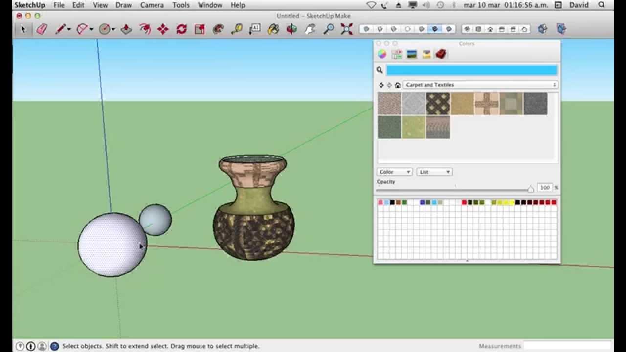 Como Hacer Esferas Y Jarrones En Sketchup Youtube