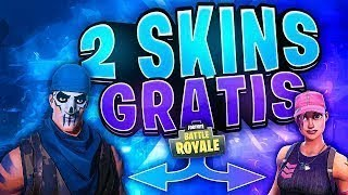 2 SKINS GRATIS PARA FORTNITE BATTLE ROYALE !! - FREE V-BUCKS