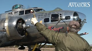Full start-up and take-off of the B-17 Sentimental Journey (Raw engine sound, no music)