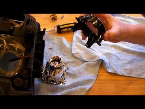 Freelander 2 HID projector lens cleaning