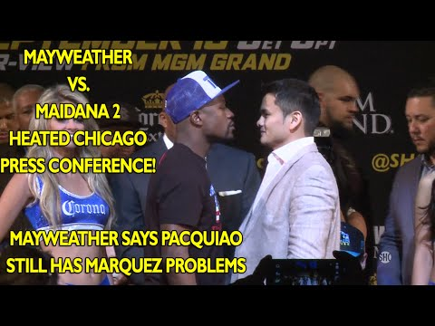 Floyd Mayweather vs. Marcos Maidana 2 - Heated Chicago press conference video
