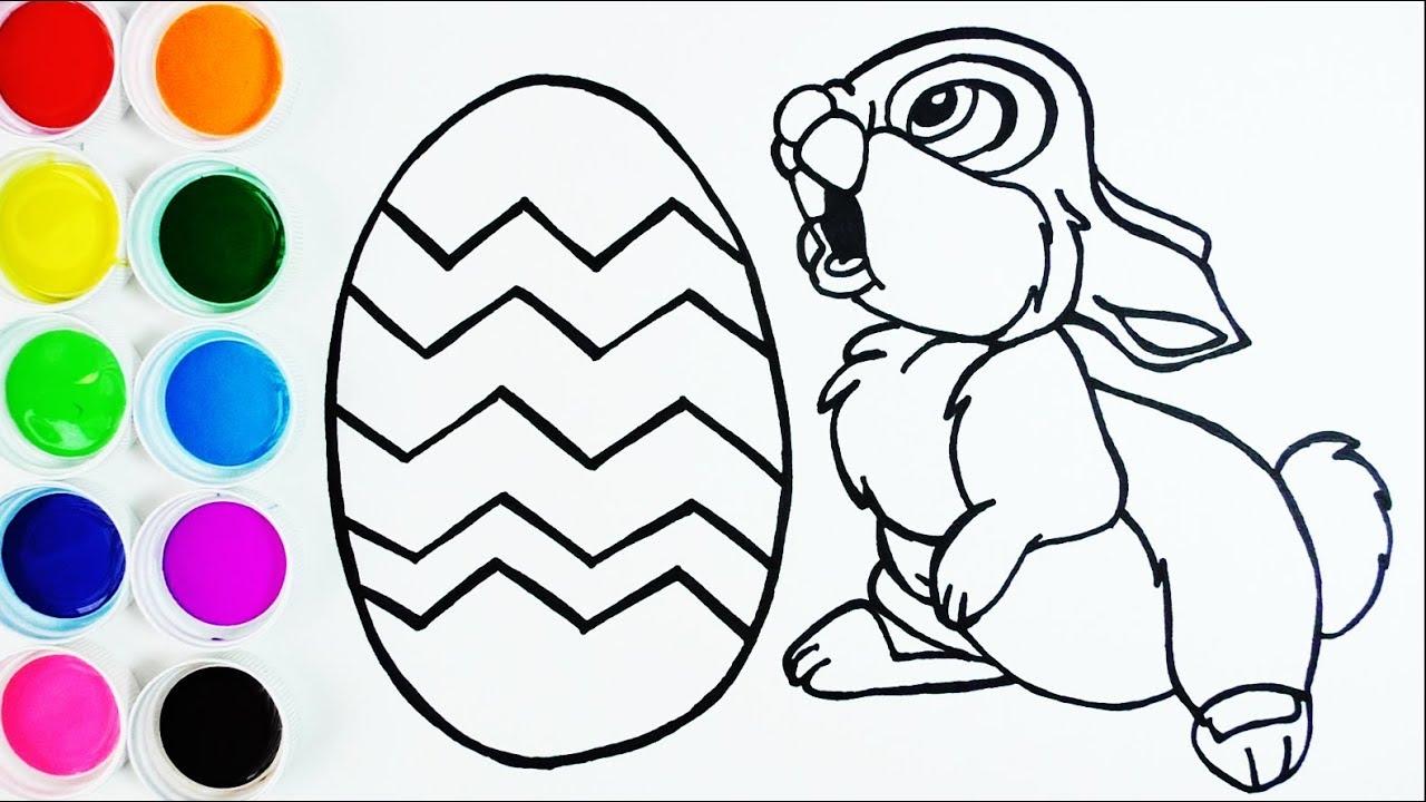 Cómo Dibujar y Colorear Conejo - Dibujar Huevo de Pascuas de Arco ...