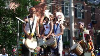 universal african dance drum ensemble plays odunde 2016