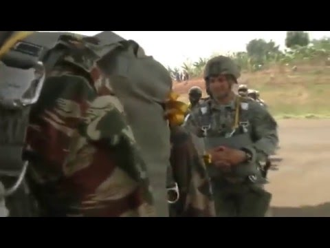 U.S. Army Airborne Soldiers First Ever Para-Jump in Africa - Video 1