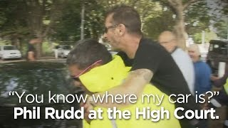 AC/DC drummer piggybacks on security guard